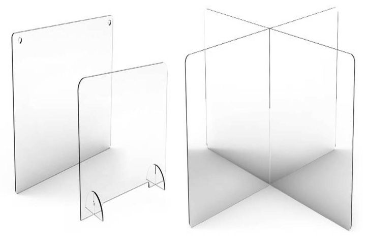 These Larson Electronics transparent dividers are made out of 1/4 inch thick, food-safe PETG (stronger than acrylic). - Photo: Larson Electronics