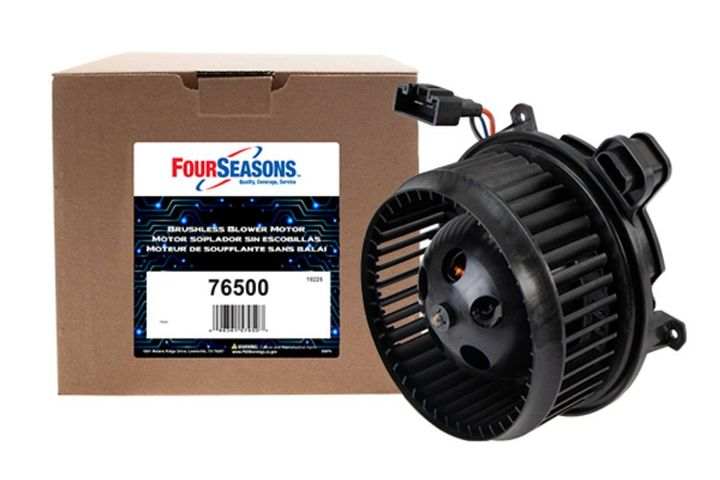 Four Seasons now offers a line of aftermarket light car and truck brushless blower motors, developed and manufactured in North America. - Photo: Four Seasons