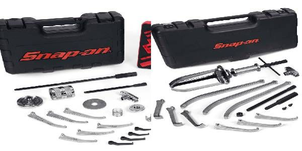 Snap-on Heavy-, Light-Duty Manual Interchangeable Master Puller Sets