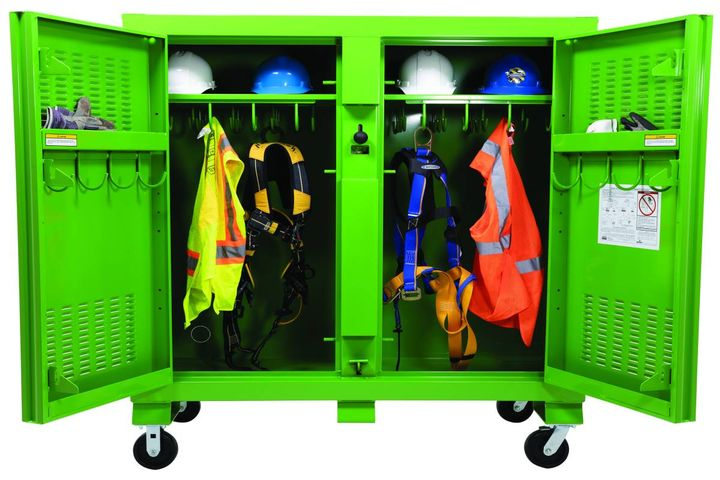 New adaptable KNAACK industrial cabinet models focus on maximum storage, versatility, and organization. - Photo: KNAACK