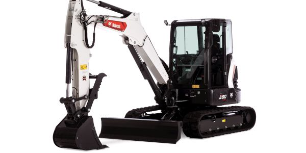 The 55 hp conventional tail swing excavator has an operating weight of 12,315 lbs.