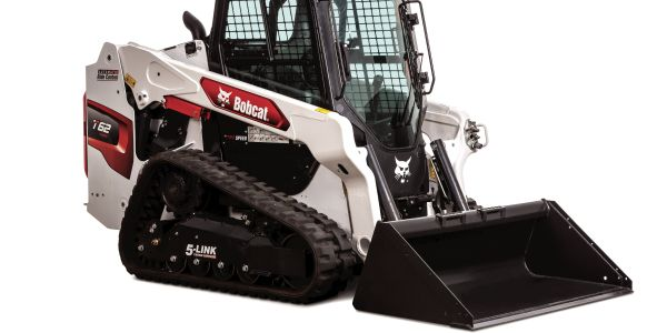 The T62 compact track loader has a 68-hp engine and a 2,150-lb. rated operating capacity.