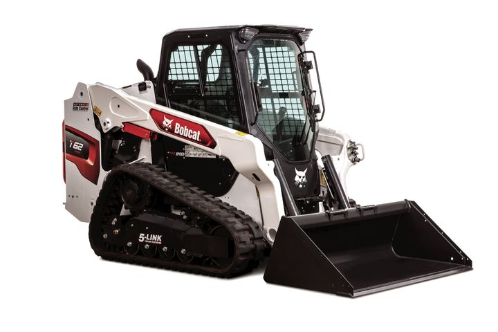 The T62 compact track loader has a 68-hp engine and a 2,150-lb. rated operating capacity. - Photo: Bobcat