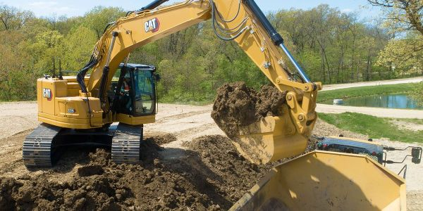 The Cat C7.1 engine powering the 335 excavator meets the most stringent emissions standards with...