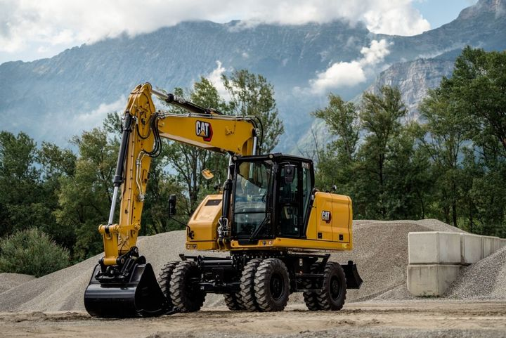 A Cat C4.4 engine enables the M316 wheeled excavator to efficiently complete tasks in multiple markets. - Photo: Caterpillar