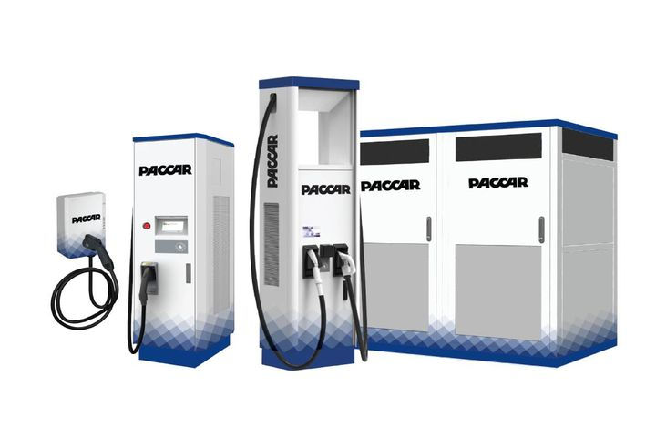 Customers can purchase the chargers from Kenworth, Peterbilt, and DAF dealers and TRP store locations worldwide, choosing from multiple DC fast chargers rated up to 920V DC. - Photo:PACCAR Parts
