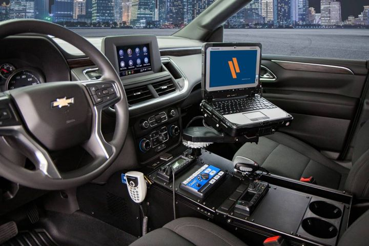 """From vehicle-specific consoles and device mounts to K9 transport systems and more, the """"Dash to Bumper"""" line offers extreme officer protection. -"""