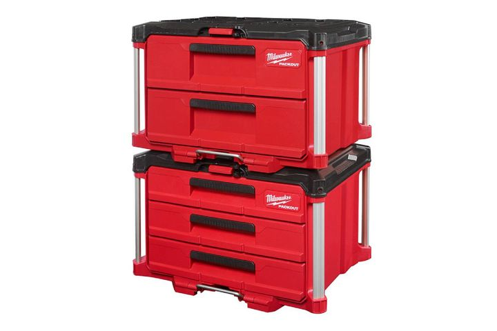 The two and three drawer tool boxes are built for durability. - Photo: Milwaukee Tool