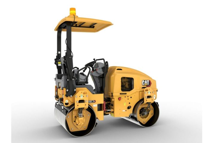 The CatCB2.7 GC utilitycompactor comes with aCat C1.7T engine that meets U.S. EPA Tier 4 Final emission standards. - Photo: Caterpillar