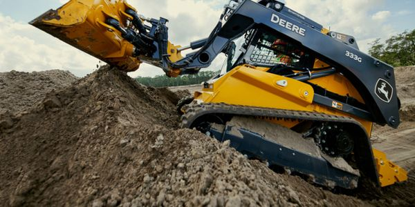 The SmartGrade 333G Compact Track Loader will increase productivity by helping to automatically...