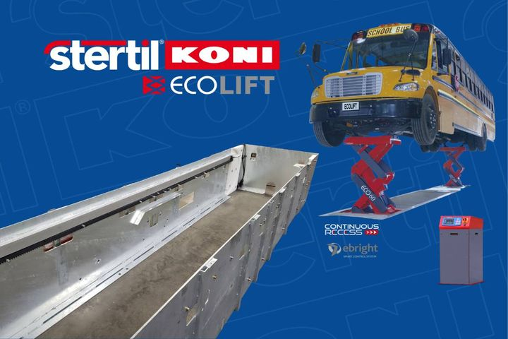 Hot dip galvanization provides corrosion resistance at floor level as well as below and is particularly effective in protecting the lift in wet environments. - Photo:Stertil-Koni