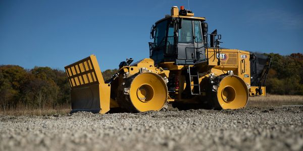 The landfill compactor is powered by the Cat C7.1 engine designed for maximum fuel economy and...