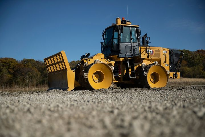 The landfill compactor is powered by the Cat C7.1 engine designed for maximum fuel economy and increased power density. - Photo: Caterpillar