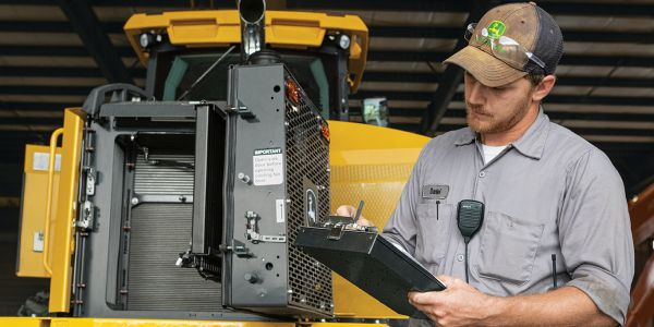 The John Deere Protect program will be available for select construction equipment at...