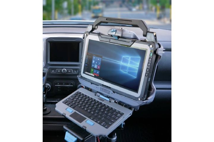 This docking station features Getac certified electronics with a composite chassis that provides increased durability while maintaining a reduced weight. - Photo: Gamber-Johnson