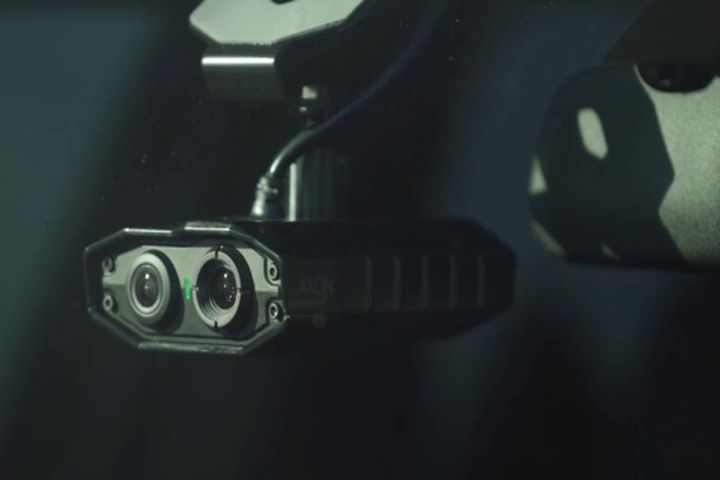 Axon's AI-powered automated license plate reader delivers up to eight times or more the plate reads for the same spend as traditional systems. - Photo: Axon video screencap
