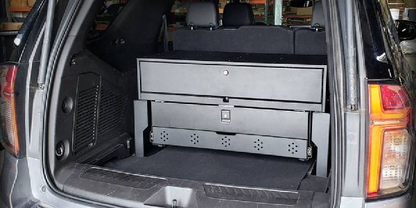 The mounting solution allows upfitters and end users to easily remove the trim panel covering...