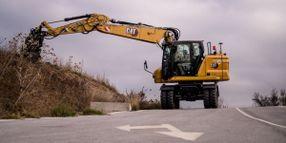 Cat M319 Wheeled Excavator Features Compact Design