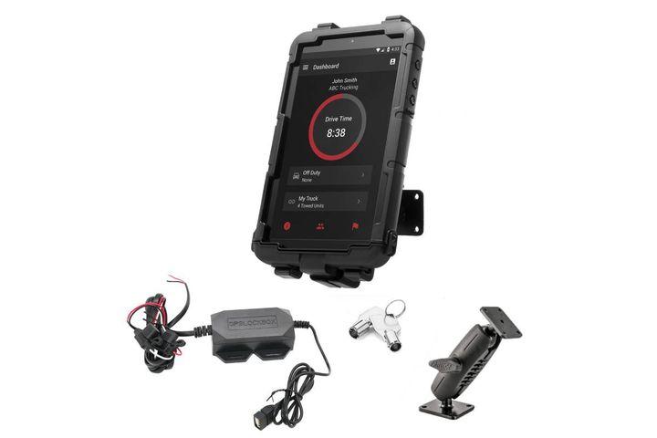 GPSLockbox's Samsung Tab A7 lite cradle is designed to fit its compact frame and slim design. - Photo: GPSLockbox