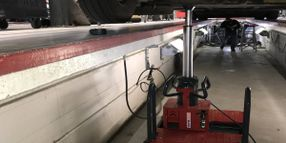 Stertil-Koni Floor Pit Jacks with Hydraulic Telescopic Piston Deliver Safe Lifting