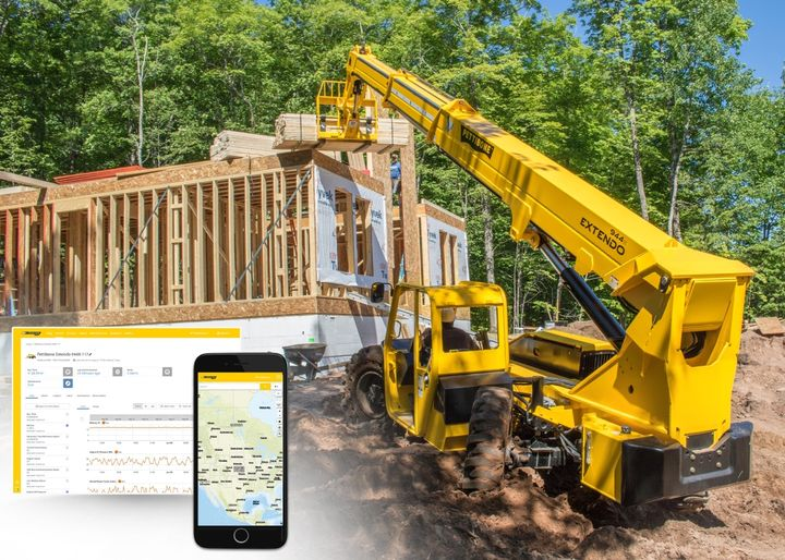 X-Command allows users to remotely track a machine's location and observe data points such as engine hours, fuel rate and usage, diesel exhaust fluid level, battery voltage, and more. - Photo: Pettibone