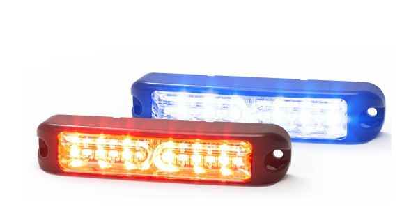 The light has a clear lens with 12 dual-color LEDs and each color can be controlled independently.