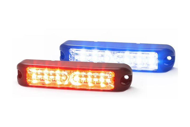 The light has a clear lens with 12 dual-color LEDs and each color can be controlled independently. - Photo: Code 3