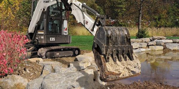Extendable Arm Option on Compact Excavators