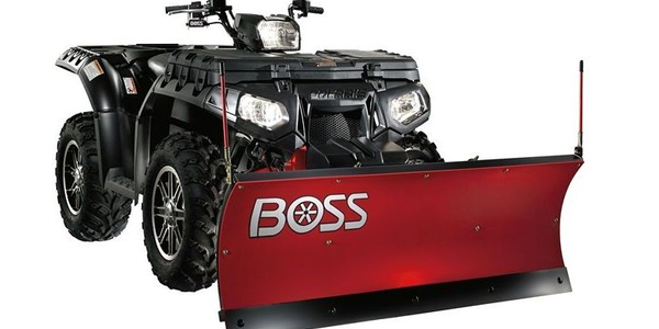 The Boss 4-in. ATV plow has the same features as a full-size plow. Photo courtesy of Boss