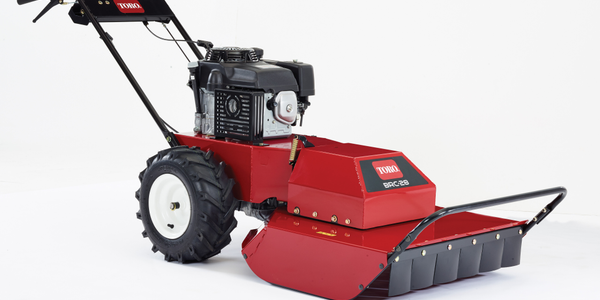 Toro's 28-inch Hydro Drive Brush Cutter with two-step blade engagement. Photo courtesy of Toro