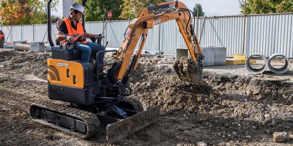 Pictured is the Case CX17C mini excavator. Photo courtesy of Case