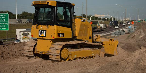 Caterpillar D5K2 track type tractor. Photo courtesy of Caterpillar