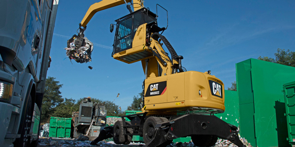 Cat MH3022 material handler. Photo courtesy of Cat