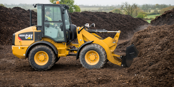 Caterpillar 908M compact wheel loader. Photo courtesy of Cat