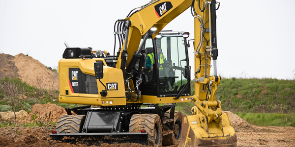 The Caterpillar M315F compact radius wheeled excavator. Photo courtesy of Caterpillar