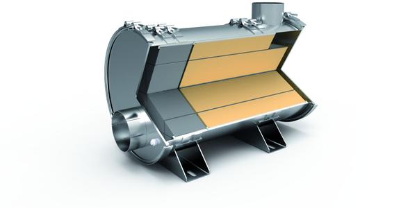 Hug Filtersystems' mobiclean R diesel particulate filter.
