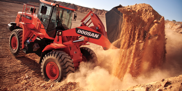 The 4.8-cubic-yard DL350 has been re-engineered as a 271 hp iT4 wheel loader.