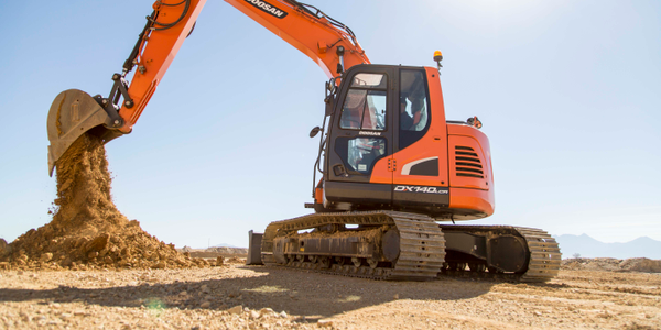 DX140LC crawler excavator. Photo courtesy of Doosan