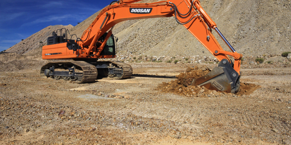 Pictured is the DX490LC-5. Photo courtesy of Doosan.