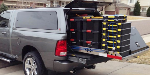 Truck Bed Slide-Out Cargo Tray