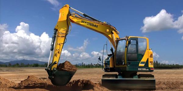 Hyundai Construction Equipment Americas'HX130LCR compact-radius excavator. Photo courtesy of HCEA