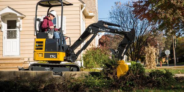Photo of John Deere 17G compact excavator courtesy of John Deere.