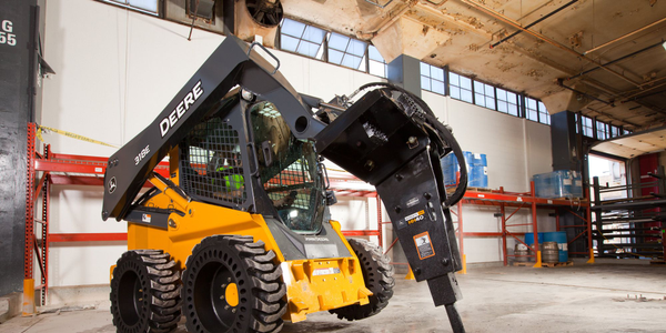 Pictured is the 318E loader.