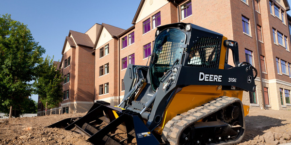 Pictured is a 319E compact track loader