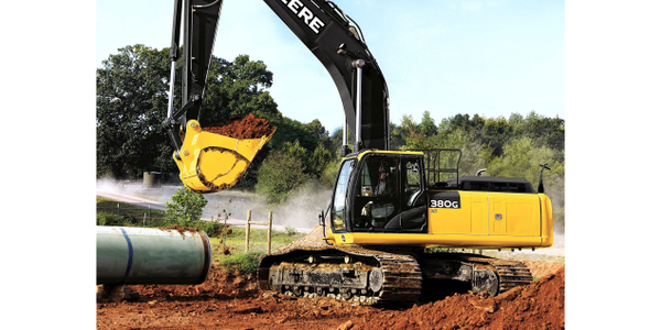 Pictured is the John Deere 380G LC excavator. Photo courtesy of John Deere.