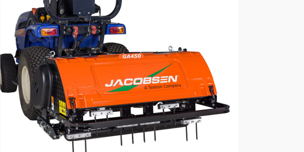 Photo of Jacobsen GA450 aerator courtesy of Textron