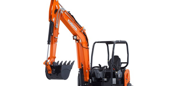 The optional Hydraulic 6-in-1 Blade is designed for Kubota's KX040-4 compact excavator. Photo...