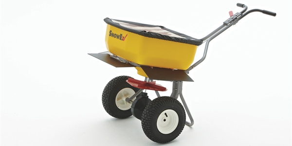 The SP-85SS offers a 160-lb. capacity and is capable of spreading bagged rock salt and...