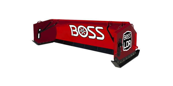 """The LDR box plow features a 70-degree attack angle that """"rolls"""" the snow and reduces..."""