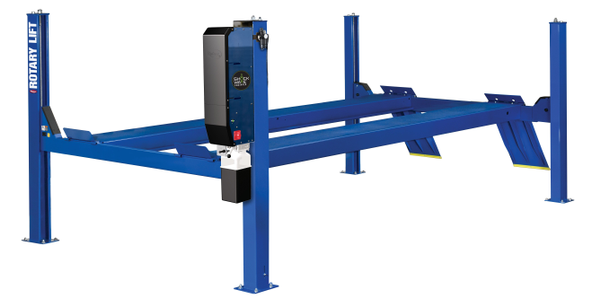Rotary Lift's 14,000-lb. capacity SM and AR series four-post lifts can handle cars, vans, and...